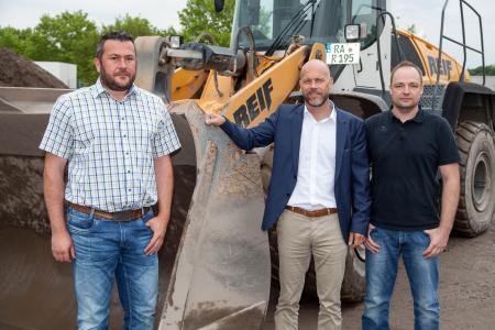 Die ersten Schritte sind getan. Andreas Eisenhuth, Alexander Klöcker und Mario Schifferdecker (v.l.n.r.) sind mit dem Start sehr zufrieden