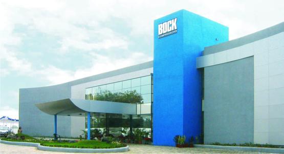 Außenansicht des neuen Werks von Bock India pvt. Ltd.