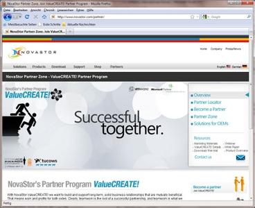 A new partner zone supports resellers and distributers with dedicated material and promotions.
