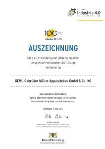 "GEMÜ wins ""Allianz Industrie 4.0"" award"