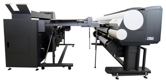 bayCompact Online Faltsystem in Kombination mit den Großformat-Drucksystemen der Canon imagePROGRAF (iPF) Serie