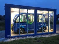 Ladestation des autonom fahrenden Busses