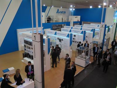 Delta™s breites Portfolio an intelligenten industriellen Automatisierungslösungen zur Produktivitätssteigerung wird auf der Hannover Messe präsentiert