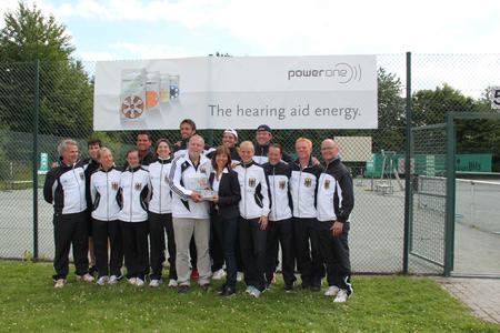 power one hearing aid batteries are handed over to the German tennis squad