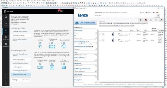 Über Konfiguratoren wie den Lenze Easy Product Finder gelangen Anwender des Portals in wenigen Schritten zu einem geeigneten Gerät der i550 Serie / Quelle Eplan GmbH & Co. KG