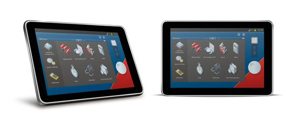 CMControl P App of Android tablets / Image source: OMICRON electronics GmbH