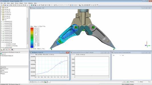 SpaceClaim-Geometrie und Baugruppenabhängigkeiten können nun in einer assoziativen Weise zu SimWise übertragen werden.
