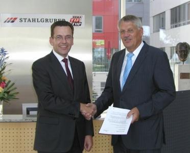Hubert Kofler, CEO Würth Phoenix and Bernhard Strauch, CEO STAHLGRUBER