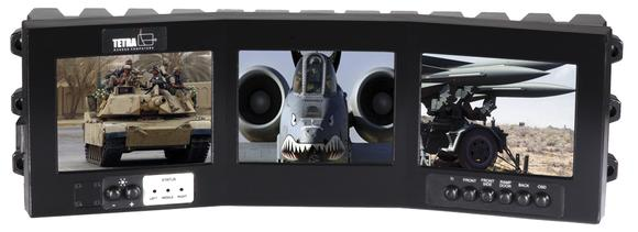 OptiVue Triton - rugged Display for military vehicles
