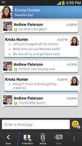 GalaxyS4 Android BBM Chat
