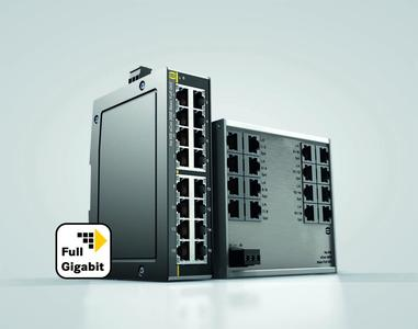 Smaller, faster, more efficient – these are the new Plug & Play Full Gigabit Ethernet switches from HARTING