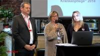 Urkundenverleihung Deutscher Verein zur Förderung pflegerischer Qualität e.V an den neuen Sponsor IC-SYS im November 2018