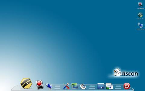 Benutzeroberfläche LISCON OS mit Dock