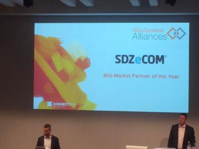 Auszeichnung SDZeCOM - Verkündung Stibo Systems