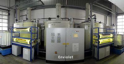 Die Enviolet UV-Reaktoren der Firma aqua concept werden zur Behandlung von Prozessströmen, Wasser und Abwasser eingesetzt.