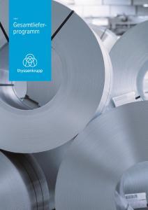 Vom hochwertigen Basiswerkstoff bis zum High-tech-Stahl: das neue Gesamtlieferprogramm von thyssenkrupp Steel Europe macht Bestellungen noch einfacher / Foto: thyssenkrupp Steel Europe AG