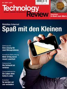 Das Titelbild der aktuellen Technology-Review-Ausgabe 3/2009