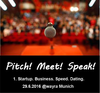 Startups from Germany and many other countries will pitch at the 29th of June 2016 in Munich.