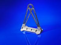 """Hybride Strukturen wie dieses aus Aluminiumguss und CFK gefertigte Bauteil, stellen besondere Anforderungen an die Oberflächenbehandlung. Die Fachtagung """"Oberflächenvorbehandlung und Korrosionsschutz im Multimaterial-Leichtbau"""" bietet dazu Wissen und Lösungen. Bildquelle: Fraunhofer IFAM"""