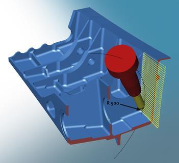 Neue Strategie für das hocheffiziente Schlichten von ebenen Flächen mit speziellen konischen Tonnenfräsern (Bildquelle: OPEN MIND)