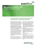 Marathon everRun HA Datasheet