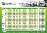 Dekadenplan 2014 von mein-plakat.de