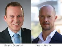 Sascha Odenthal und Kieran Hernon