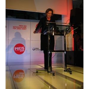 Prof. Dr. Christina Weiss annociert die Shortlist für den Preis der Nationalgalerie 2009 (10/2008)