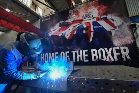 Boxers for Britain - series production starts exactly according to plan at Rheinmetall's Kassel plant