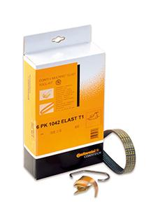 To ensure safe, correct replacement, ContiTech offers elastic belts together with a disposable tool in a complete kit for many vehicle types, Photo: ContiTech