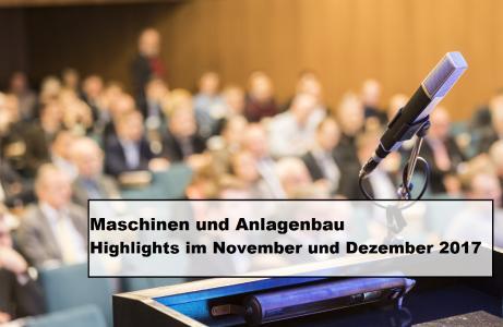 Maschinen- und Anlagenbau - Neue Veranstaltungen und aktuelle Termine