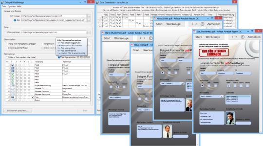 pdf-FieldMerge - einfach Excel Daten für PDF-Formulare nutzen