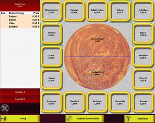 PosBill Kasse Pizzeria Artikelbaukasten