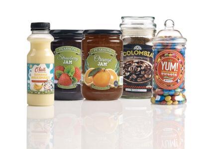 Druckmuster Lebensmittel-Etiketten
