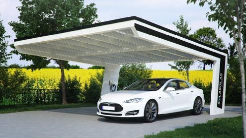 Solar carports und solarterrassen moderne architektur und for Solar carport preise