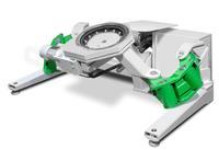 Centrick verfügt über eine neu entwickelte Kinematik, die Werkstücke bis 2000 Kg energieeffizient und schnell kippen und drehen kann.