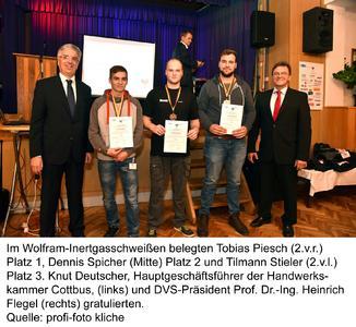 1. Platz für Tobias Piesch im Wolfram-Inertgasschweißen