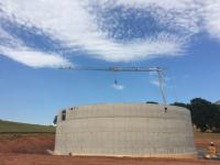 (2)	Digester of Bitterley Biogas AD after completion of concrete works