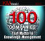 "Attensity once again listed in ""KMWorld's 100 Companies That Matter in Knowledge Management"""