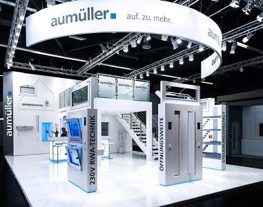 Messestand von Aumüller Aumatic auf der Fensterbau Frontale 2018