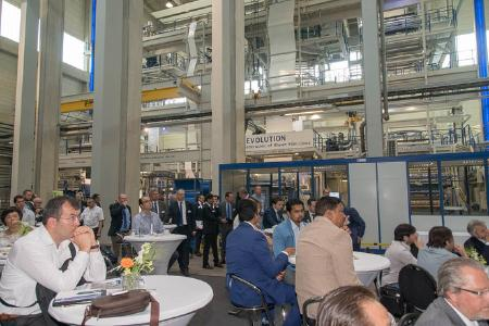 The visitors to Reifenhäuser Blown Film's Open House held during DRUPA were presented high-performance barrier blown film lines in the Technology Center