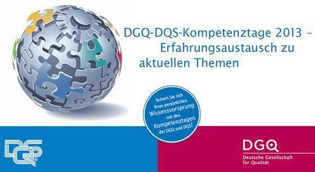 Kernkompetenz Managementsysteme: DGQ-DQS-Kompetenztage 2013