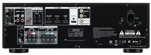 AVR-X500 Rückansicht