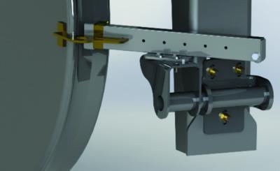 Aufgebracht auf Radrücken und Spurkranz minimieren die Schmierstifte der Spurkranzschmiersysteme den Verschleiß und verlängern so die Laufzeiten der Räder / © Knorr- Bremse