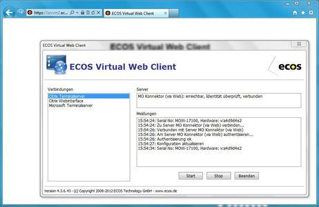 ECOS Virtual Web Client (www.ecos.de)