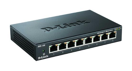 D-Link 8-Port Layer Gigabit Switch DGS-108