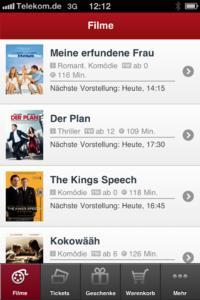Mobiles Kino-Ticketing bei KINOPOLIS - Filmauswahl