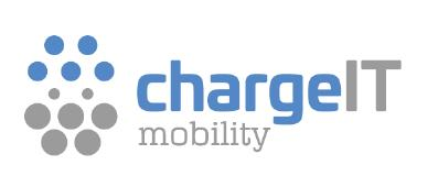 The new chargeIT mobility GmbH logo also combines the spheres of charging hardware and software in the field of electromobility. The design is a stylized representation of the two connector and socket components of the European IEC type 2 charging plug