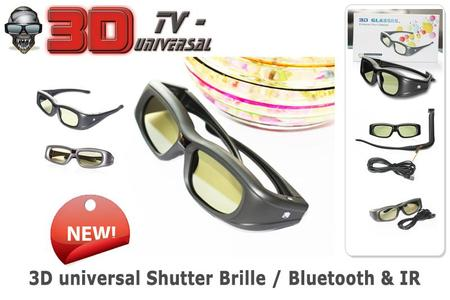 3D universal Active TV-Shutter Brille (Bluetooth & Infrarot