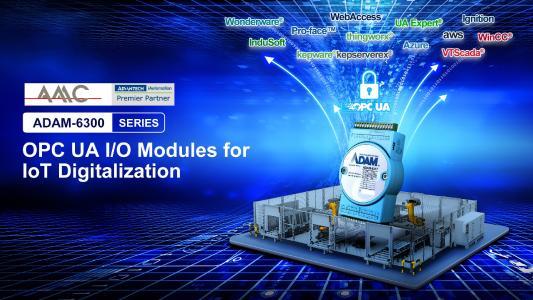OPC UA - Remote I/O Module der ADAM 6300 Serie für die industrielle IoT-Digitalisierung
